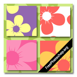 Cartoon Flowers Pattern
