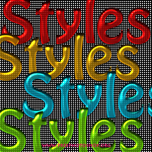 Colored Glossy Styles