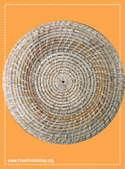 Weaved Wooden Basket