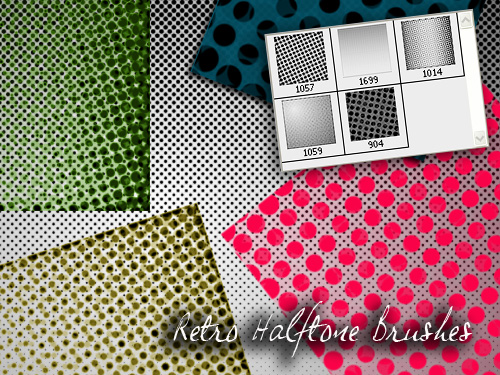 Retro Halftone Brushes