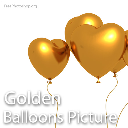 Golden Heart Balloons