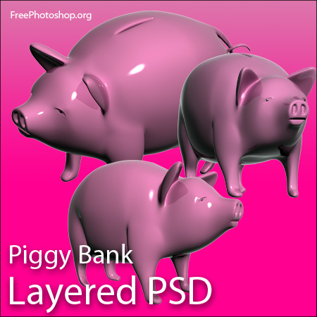 Piggy Bank PSD