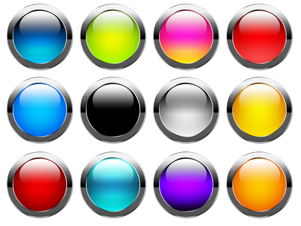 Colored Glossy Buttons