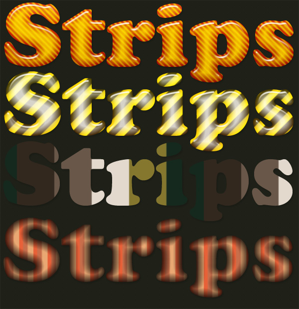 Strips Layer Styles