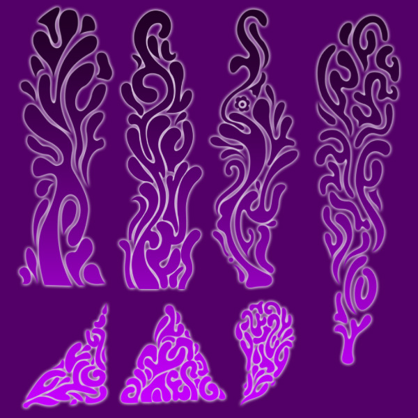 Abstract Foliage Brushes