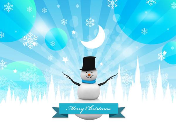 Snowman PSD and Christmas Backgrounds Part – 9