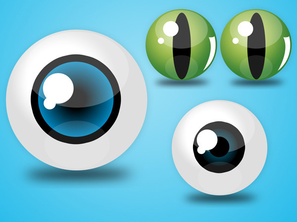 Eyes PSD Icons