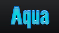 Aqua Blue Layer Style
