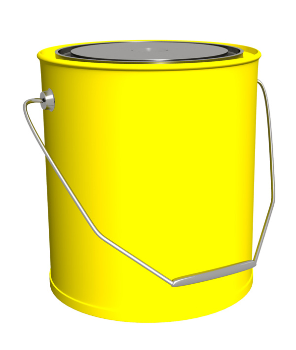 Yellow Paint Bucket