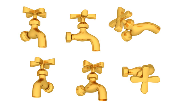 Golden Water Taps