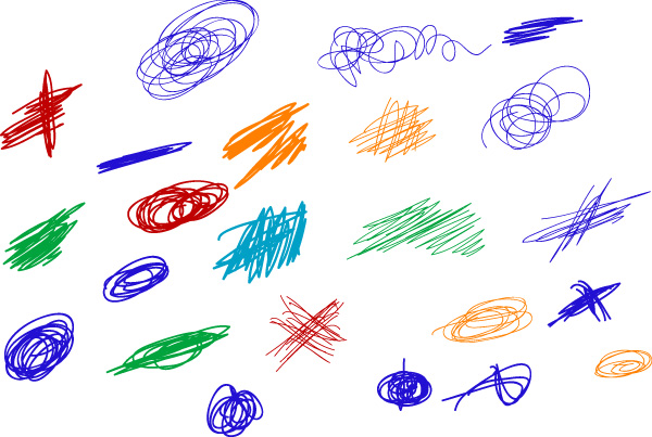 Scribble Colored Strokes Designs