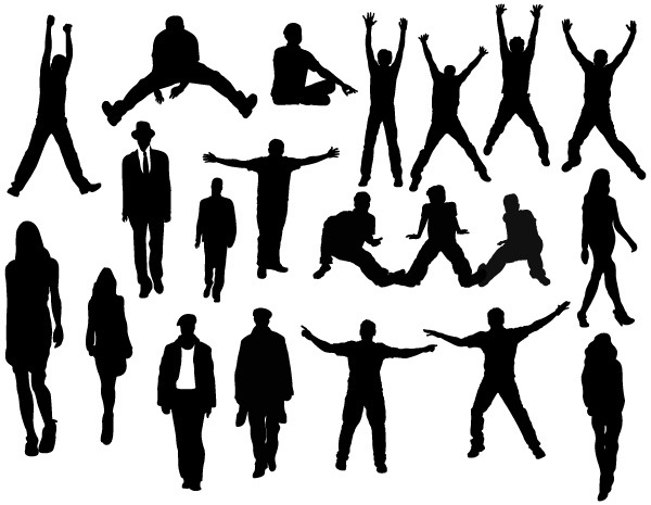 People Poses and Action Silhouettes