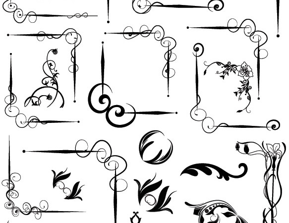 Corners Brushes, Shapes, Vectors PNG & Pictures
