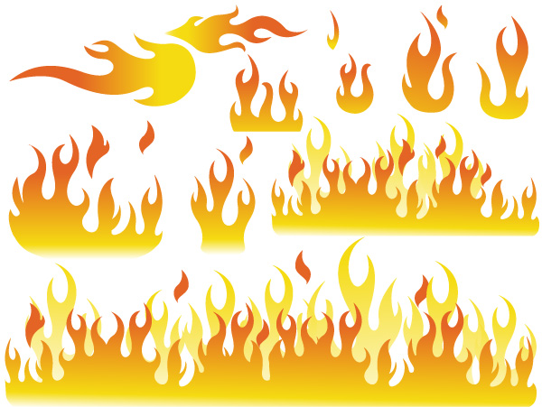 Fire Elements Shapes Designs