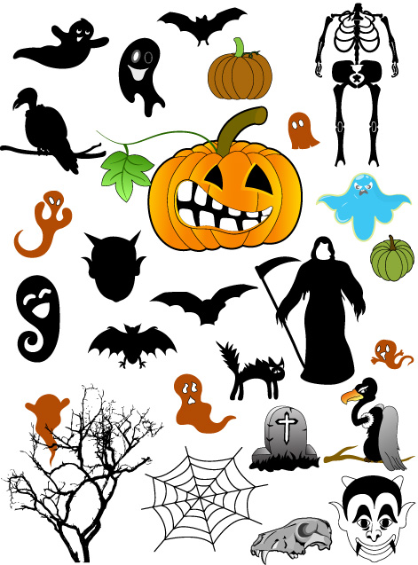 Halloween Graphic Elements Brushes