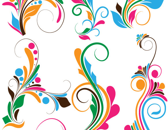 Flourish swirls Vectors, Brushes, PNG, Shapes & Picture