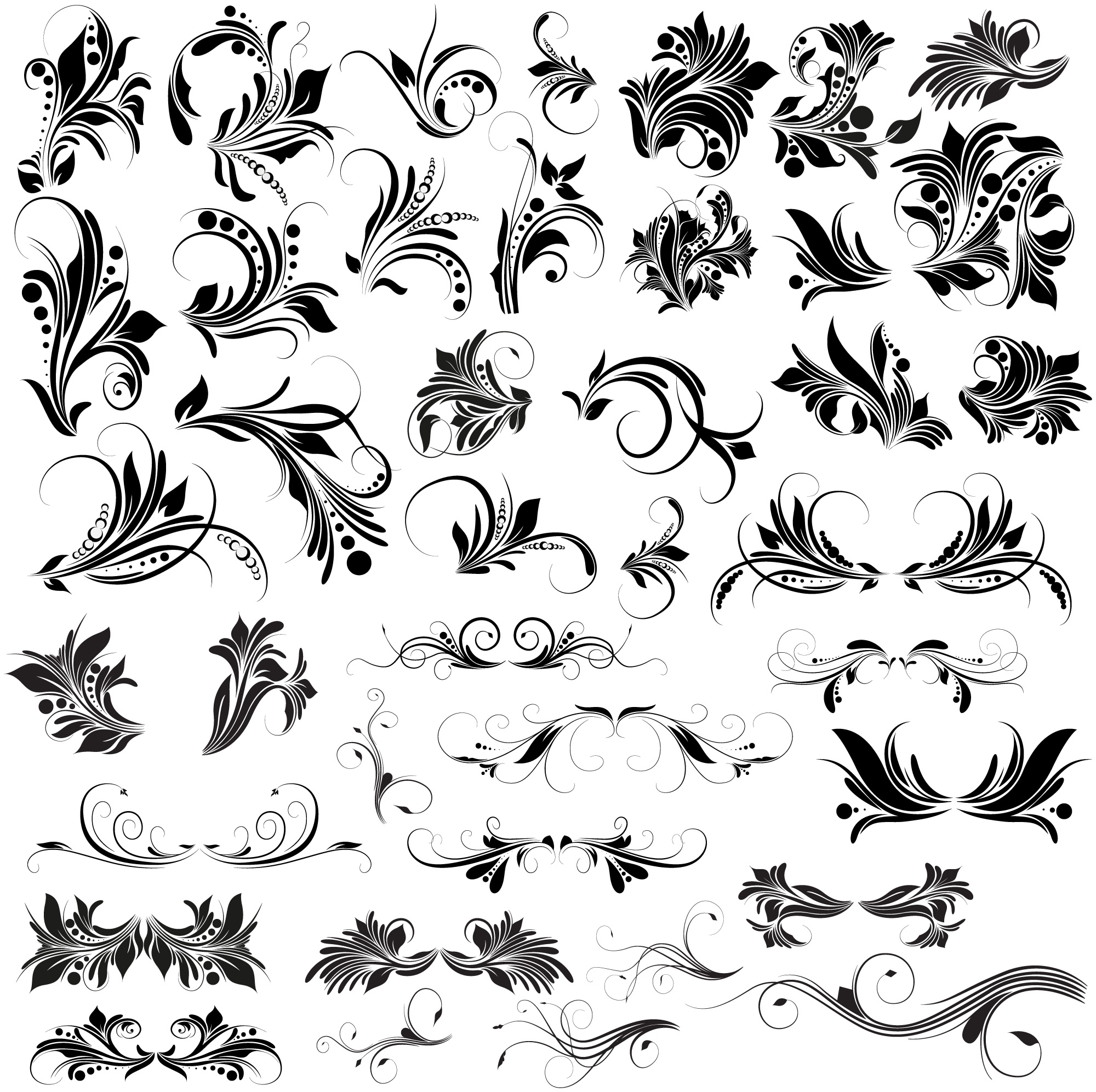 Floral Vectors, Brushes, PNG, Shapes & Pictures - Free ...