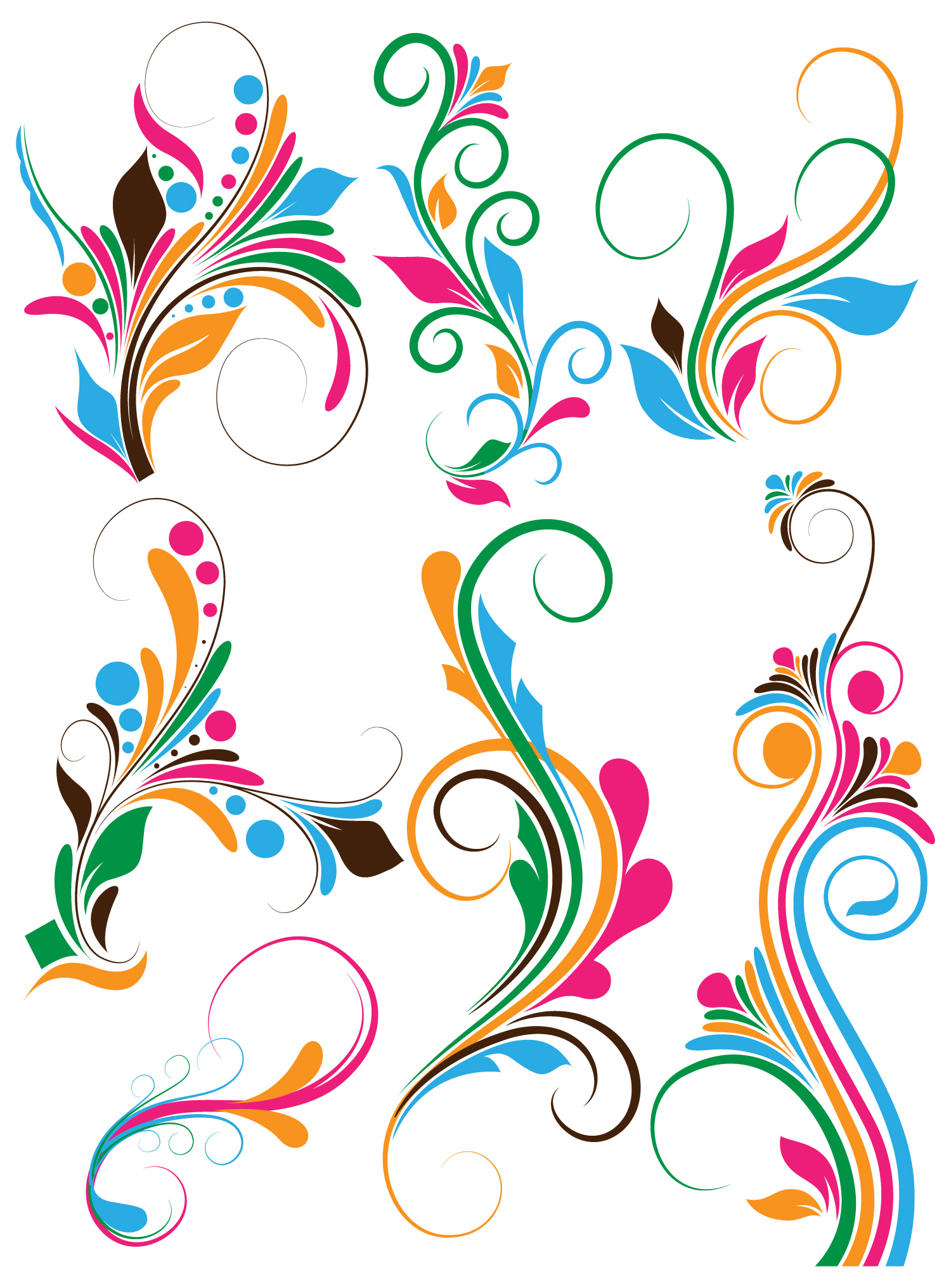 Flourish swirls Vectors, Brushes, PNG, Shapes & Picture ...