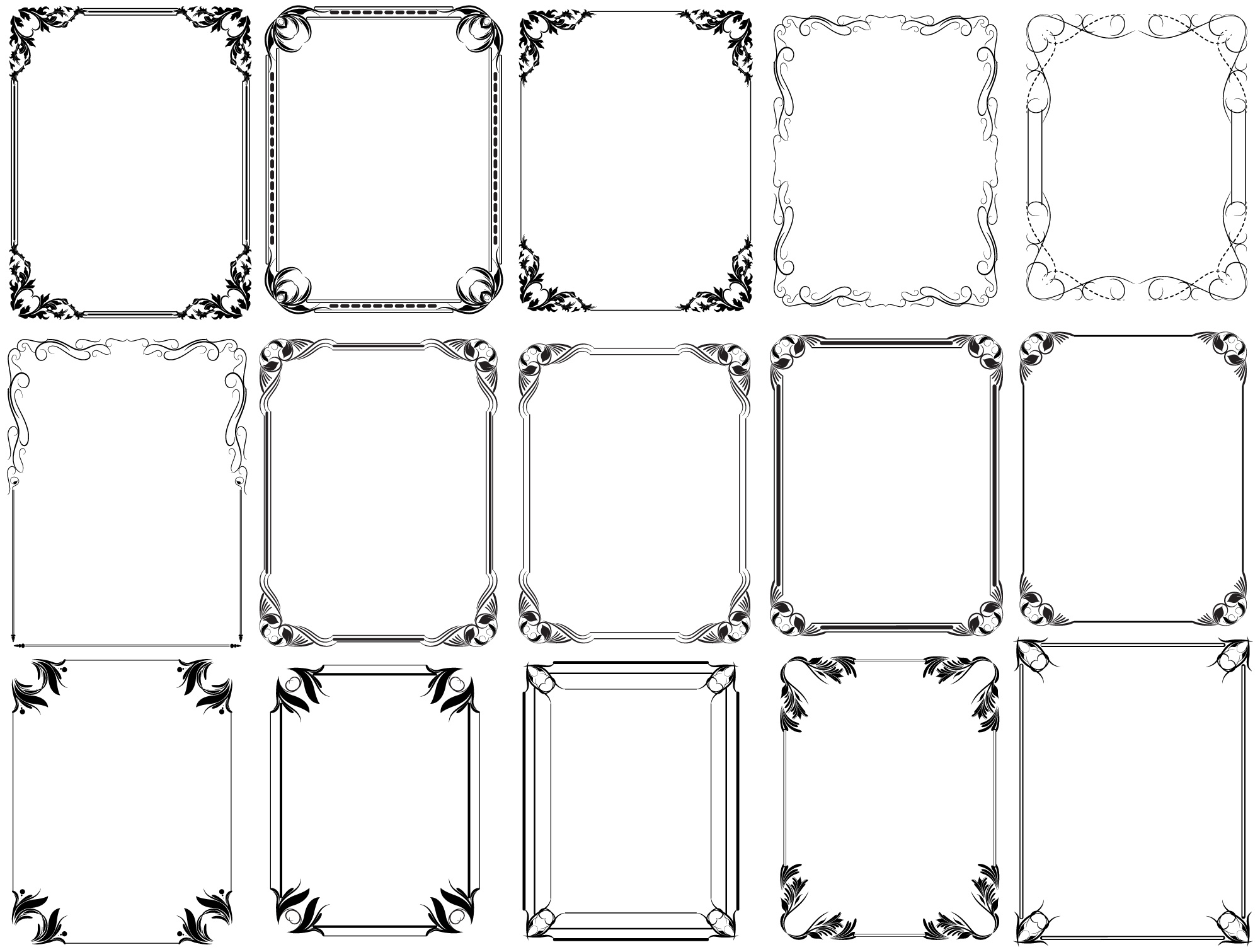 Free Photoshop Vintage Frames Brushes, Shapes, PNG, Pictures and