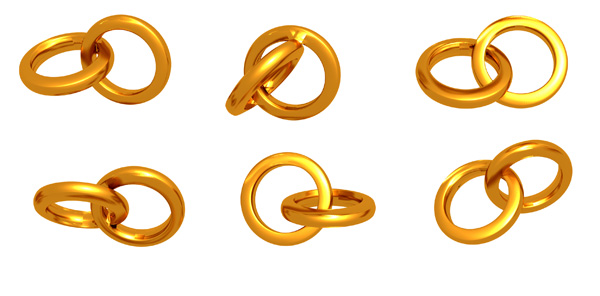 gold wedding rings psd picture