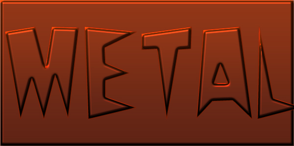 metal text