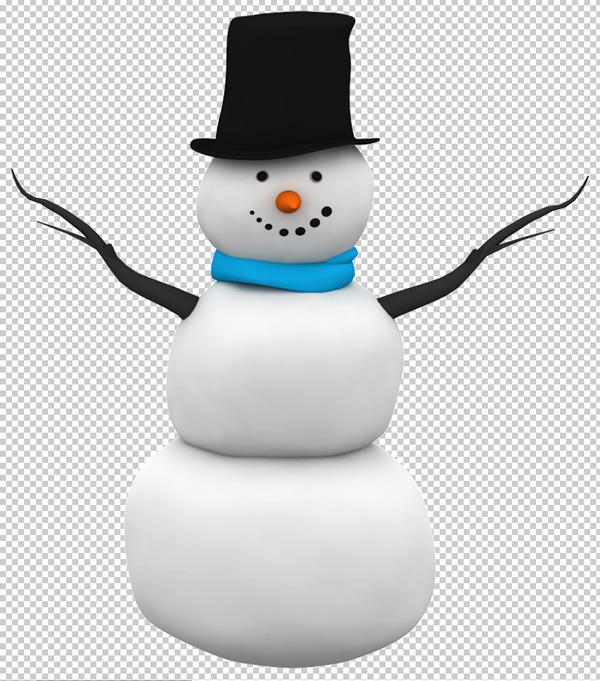 snowman psd