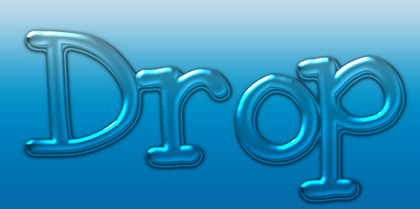 water drop text
