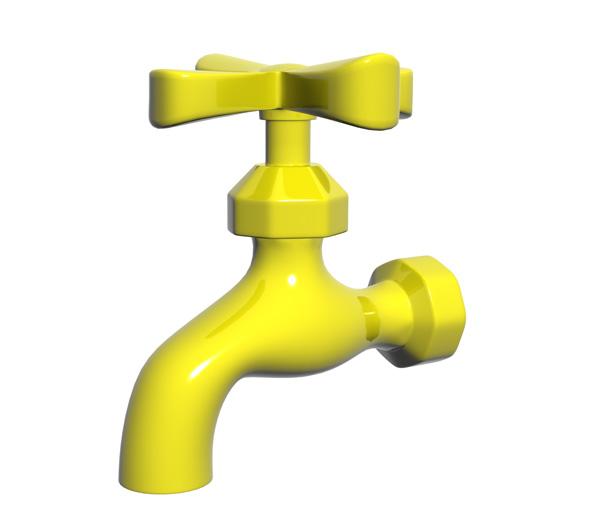 yellow tap